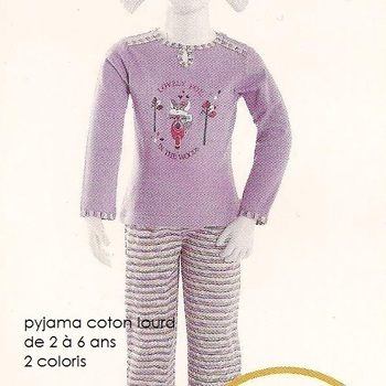 pyjama coton interlock lovely fox ( eskimo) - reste 5 & 6 ans EN PROMO