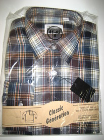 chemise flanelle long pan ou grand-père pour homme - grandes tailles