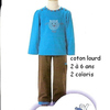 pyjama interlock doris (eskimo) 2-3-5 ans EN PROMO