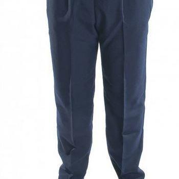 pantalon taille élastique avec poches - tissu lourd - polyester pour homme - grandes tailles