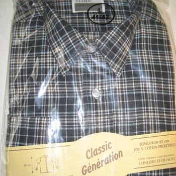 """chemise flanelle 85cm """"classic génération"""" pour homme"""