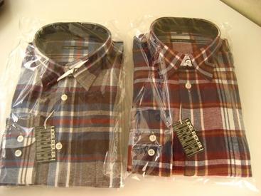 """chemise flanelle """"henderson"""" pour homme - bordeau ou bleu"""