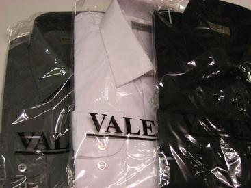 chemises longues manches unies polyester-coton pour homme