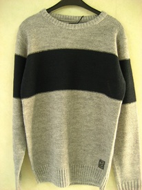 "pull ras du cou pour homme ""fisher and bennet"" - grande bande - reste M"
