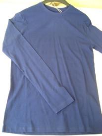 t-shirt longues manches uni coton pour homme - ebound