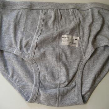 slip coton gris avec ouverture pour homme - grandes tailles