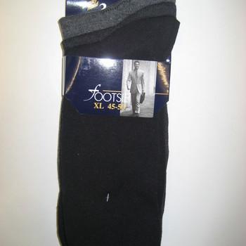 chaussettes unies avec du coton - pointure 45/50 pour homme -  grandes tailles - 3 pour 6.60€