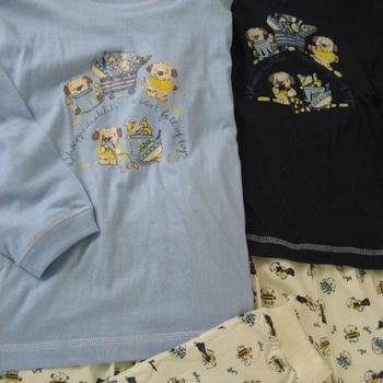 pyjama coton jersey ours PROMO ! - reste 5 ans en marine et ciel