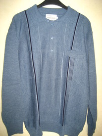 pull polo classique jeans avec laine pour homme