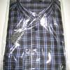 chemise longues manches coton-polyester pour homme en PROMO # noir gris M - XXL