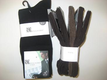 chaussettes brunes unies avec du coton pour homme : 5 pour 6.76€ - reste 39/42
