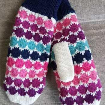 moufles multicolores pour enfant doublé polaire