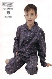 pyjama flanelle pour garçon - foot - reste 14 ans en PROMO