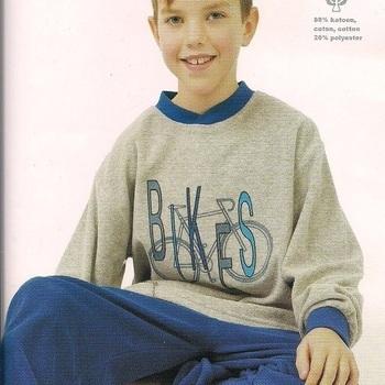 pyjama strech pour les garçons - bikes bleu - 8 ans 10 ans EN PROMO