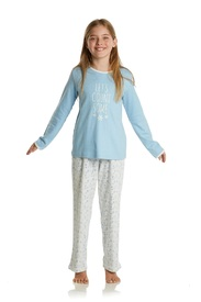 pyjama interlock eskimo pour fille de 6 à 16 ans - some stars EN PROMO