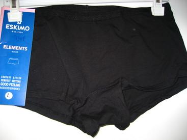 shorty coton-élasthane - elements pour dame  noir