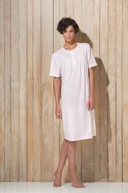 robe de nuit courtes manches coton jersey pour dame - Amone - 3XL