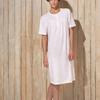 robe de nuit courtes manches coton jersey pour dame - Amone bleu - xxL & 3XL