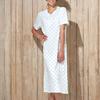 robe de nuit courtes manches coton jersey - ariel - reste S & M