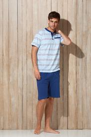 pyjashort coton jersey pour homme - Draw 3 boutons - grandes tailles