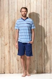 pyjashort coton jersey pour homme - Draw V - grandes tailles