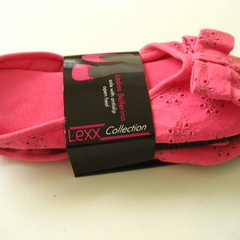 chaussons coton rose EN PROMO