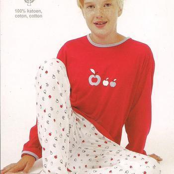 pyjama coton jersey pour filles 16 ans - apple fuschia EN PROMO
