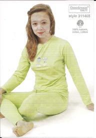 pyjama coton jersey pour filles de 6 à 16 ans - cake