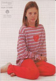 pyjama coton jersey pour filles 16 ans - coeur EN PROMO