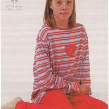 pyjama coton jersey pour filles reste 16 ans - coeur EN PROMO