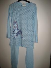 pyjama coton jersey pour filles 16 ans - ciel EN PROMO