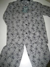pyjama boutonné coton jersey pour filles de 5 ans - oiseaux EN PROMO