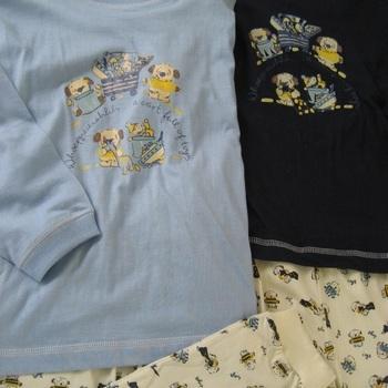 pyjama coton jersey - marine ou ciel en 5 ans en PROMO
