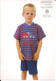 pyjashort pour les garçons de 2 à 5 ans - beep