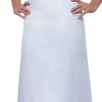 tablier carré en-dessous du genou 100*75cm blanc 100% coton