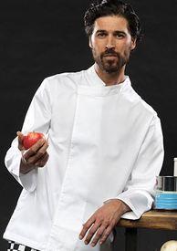veste de cuisinier polyester-coton avec 1 pression EN PROMO