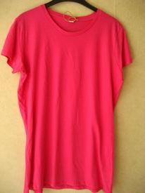 t-shirt coton long rose - P71