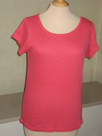 t-shirt coton cintré dessin dans tissu pour dame - reste S & M EN PROMO