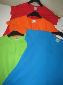 t-shirt coton cintré pour dame - fluo - reste orange-rouge-vert en S & M EN PROMO