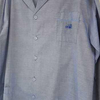 pyjama boutonné tergal pour homme - chiné jeans reste S