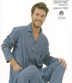 pyjama boutonné coton pour homme