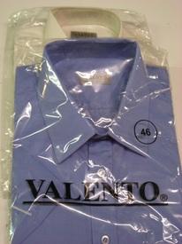 chemise courtes manches en polyester-coton uni