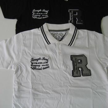 polo coton courtes manches RG blanc M - L