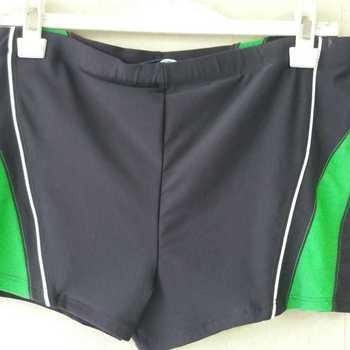 short de bain pour homme - gris avec bande verte - reste L