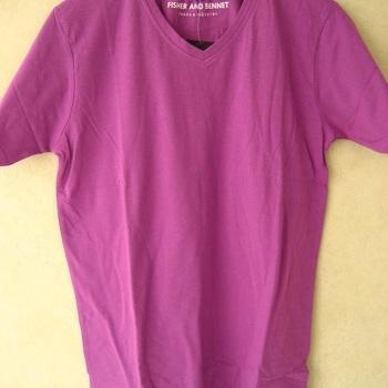 t-shirt uni coton mauve  unisexe S - M - L - XL - XXL