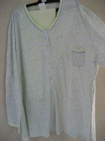 pyjama catini, longues manches, boules anis, 3XL et 4XL