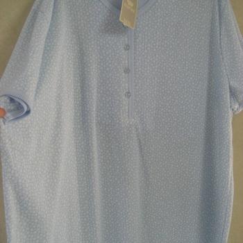 pyjama corsaire cotelé imprimé ines, 3XL ciel