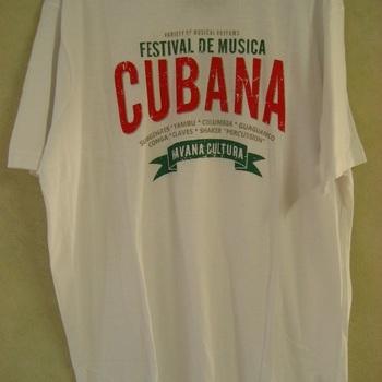 t-shirt coton cubana pour homme - gino santi - blanc XL