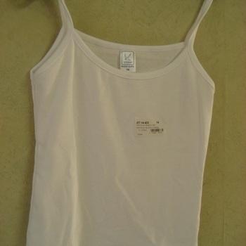 chemisette fines bretelles coton blanc 10 ans  12 ans 14 ans