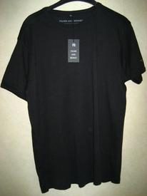 t-shirt coton noir avec couture pour homme